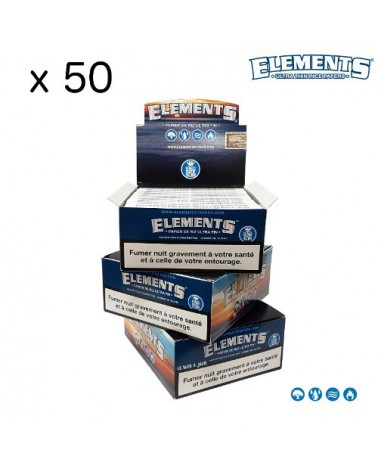 lot de 50 paquets de feuilles elements slim