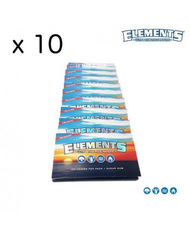 Lot de petites feuilles Elements REGULAR x10