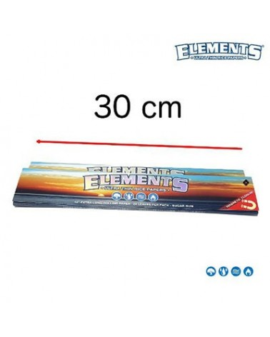 Feuilles Elements génates King Size Slim XXL 30 cm