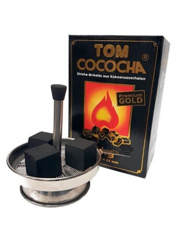 Tom cococha Gold charbon naturel Premium pour chicha